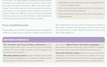 Advancing women in political decision-making - Way forward - Leaflet