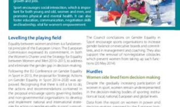 Gender equality in sport - Factsheet