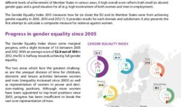 Gender Equality Index: measuring progress in the EU since 2005