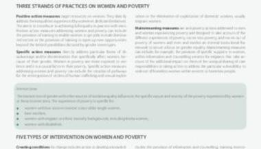 Collection of Good Practices on Non-Monetary Measures in the Area of Women and Poverty: Good Practices
