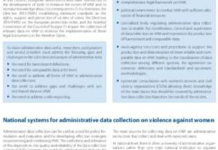 Crime and criminal justice statistics on violence against women (VAW): Good practices on administrative data collection on VAW