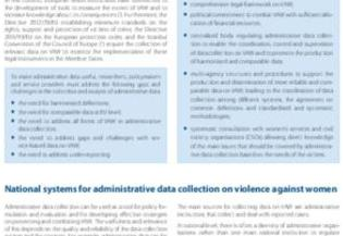 Female genital mutilation: Good practices on collecting administrative data on female genital mutilation