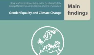 Gender Equality and Climate Change   Main Findings