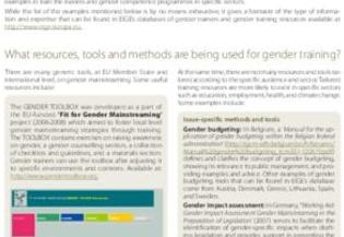 Good practices in gender training