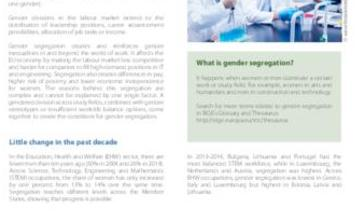 Work in the EU: women and men at opposite ends