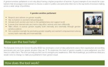 How gender equal is your parliament? Find out with our gender-sensitive parliaments tool