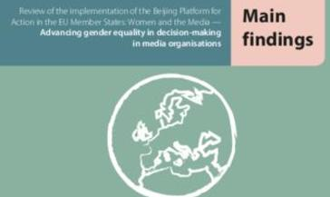 Advancing gender equality in decision-making in media organisations: Main findings