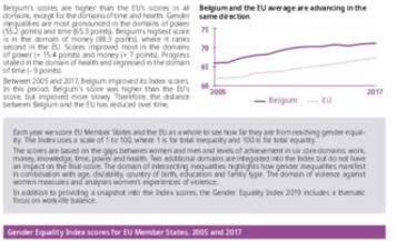 Gender Equality Index 2019: Belgium