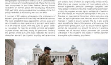 Beijing +25: Area E - Women and armed conflict: participation and protection in the EU
