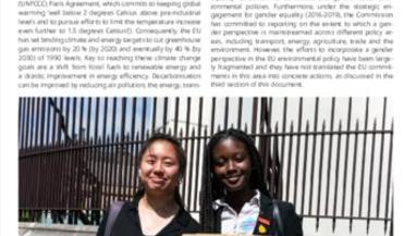 Beijing +25 policy brief: Area K - Women and the environment: climate change is gendered